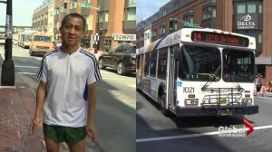 Man on foot races Halifax Transit bus for kilometres in video and wins
