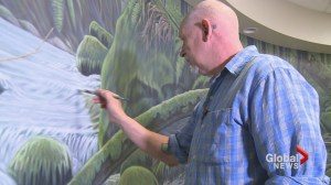 Victoria artist paints his masterpiece in an unlikely place