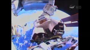 Helmet camera offers unique view of astronauts' spacewalk outside ISS