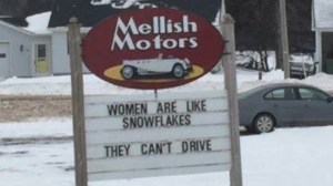 P.E.I. auto dealership's sign about female drivers sparks outrage