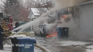 Viewer Video: House fire in Woodbine