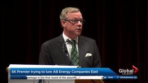 Brad Wall invites Calgary-based energy firms to move to Saskatchewan