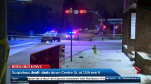 Suspicious death shuts down Centre Street at 12 Avenue