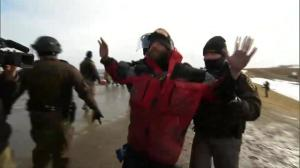 At least nine arrested following showdown between police and DAPL protesters