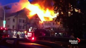 Fire on Granville Street seen throughout Vancouver