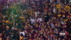 Cleveland Cavaliers fans celebrate team's Game 7 victory against Golden State Warriors