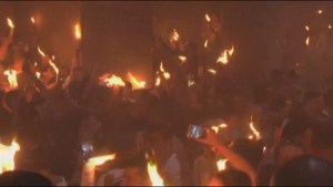 Annual Holy Fire ceremony in Jerusalem