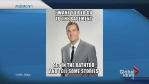 Jordan Witzel's tornado tub comment gets a laugh