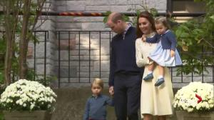 William and Kate along with Prince George and Princess Charlotte arrive for children's party