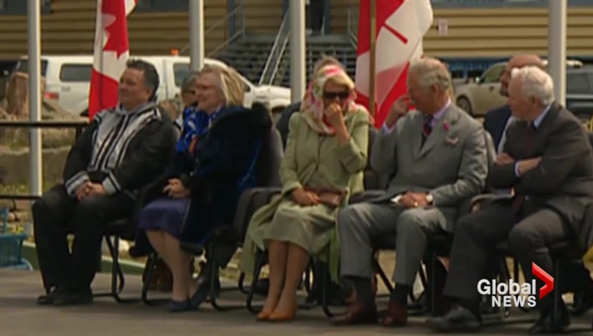 Prince Charles and Camilla were caught skitting laughing at traditional Iqaluit singers