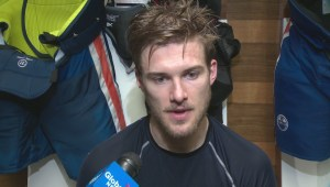 Edmonton Oilers speak to reporters after electrifying OT win in Game 5 against the Sharks