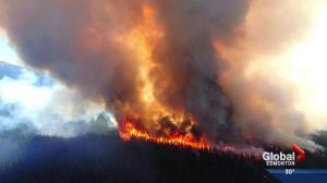 Wildfire burning out of control in Jasper National Park
