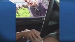 Kelowna cop accused of distracted driving pulls over accuser