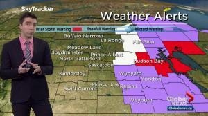 Saskatoon weather outlook: blizzard warnings, 60 km/h wind gusts, snow returns
