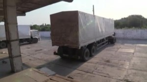 Russian aid convoy reaches rebel-held city of Luhansk