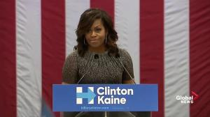 'He just doesn't understand us': Michelle Obama on Trump attacking Muslims, women, people with disabilities