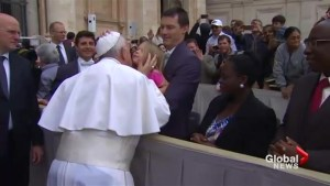 Kid steals Pope's skullcap