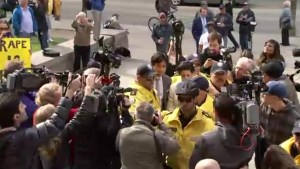 Jian Ghomeshi arrives at court to sign peace bond