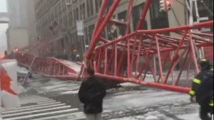 Raw video:  Aftermath of deadly crane collapse in New York City
