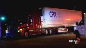 Four people hurt in suspected street race crash