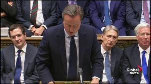 David Cameron cracks jokes at his own expense during speech before UK parliament