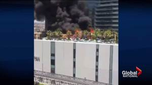 Fire sparked at Cosmopolitan Hotel in Las Vegas