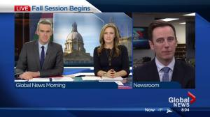 Fall session of Alberta Legislature gets underway Monday