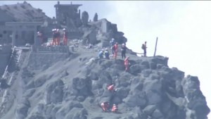 Rescue efforts on erupting volcano, more than thirty believed dead