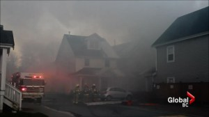 Coquitlam townhome fire