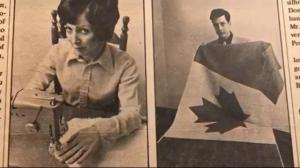 Woman who sewed Canada's first maple leaf flag