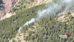 Prescribed fire at Waterton Lakes National Park