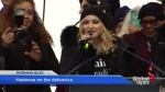 Madonna on the defensive for comments made at the Women's March in Washington