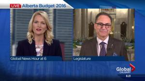 Joe Ceci talks to Global Calgary after Alberta budget day 2016