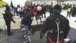 Extended: Quebec polar bear plunge