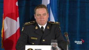 OPP commissioner discusses types of fake documents seized in multi-agency bust