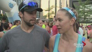One Seawheeze Marathon finisher got a special prize