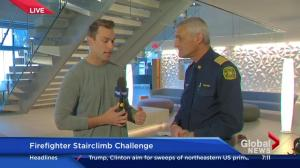 Fire Chief Steve Dongworth discusses the Firefighter Stairclimb Challenge