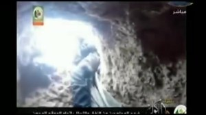 Footage appears to show Hamas fighters carrying out attack via tunnel