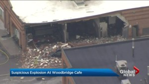 Police investigating suspicious explosion at Vaughan cafe