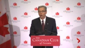 Finance Minister Joe Oliver says Canada's budget will be back in the black next year.