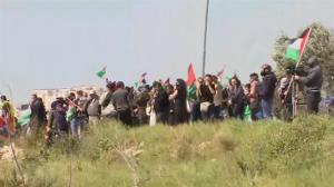 Raw video: Protests turn violent at controversial West Bank wall