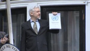 Assange declares freedom despite UK gov't pledge to arrest him