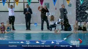 Jim Gray swims his 300,000th lap