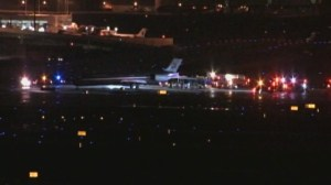 RAW: Plane slides off runway at Dallas Fort Worth International Airport
