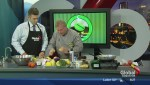 In the Global Edmonton kitchen with Green Bean Coffee House & Bistro