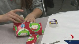 Kelowna students spread Christmas cheer through gift wrapping presents for homeless