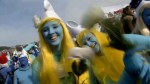 Germans dress up as Smurfs, miss out on breaking world record