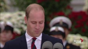 Prince William jokes about his rusty french