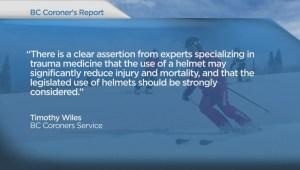 Coroner calls for helmet use on BC ski hills