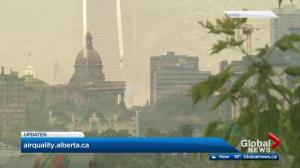 BC wildfire smoke expected to cause poor air quality in Edmonton, central Alberta